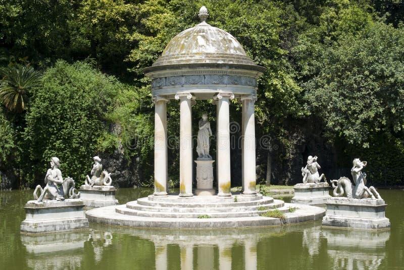 Parque da casa de campo Pallavicini em Genoa foto de stock royalty free