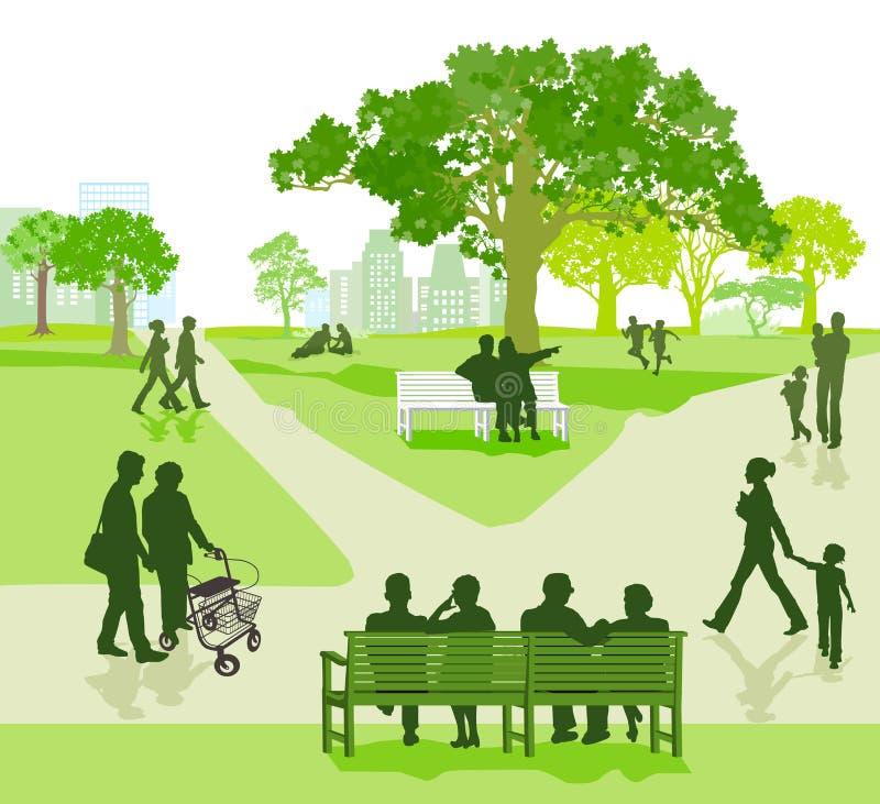 Parque da cidade ilustração royalty free