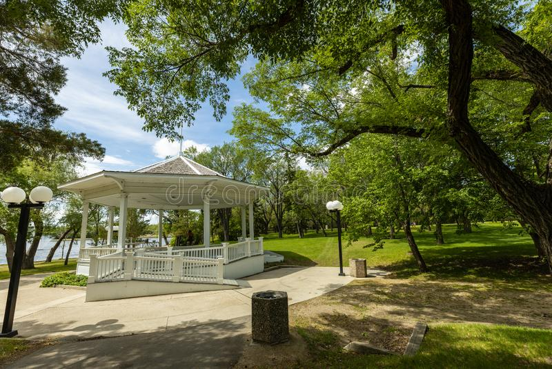 Parque da cidade de Regina em Canadá fotos de stock royalty free