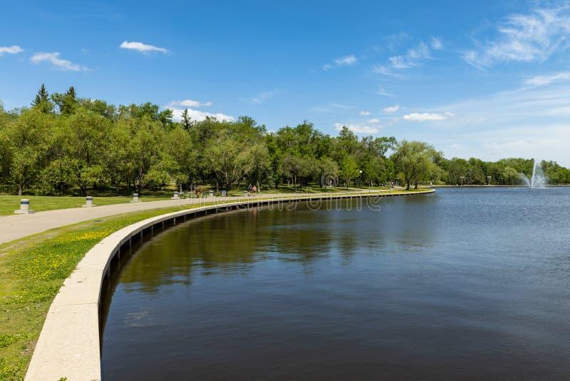 Parque da cidade de Regina em Canadá foto de stock royalty free