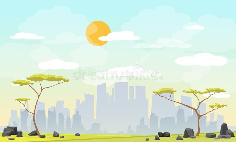 Parque da cidade urbano ilustração do vetor