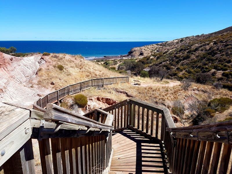 Parque da conservação da angra de Hallett - passeio à beira mar de Sugarloaf imagem de stock