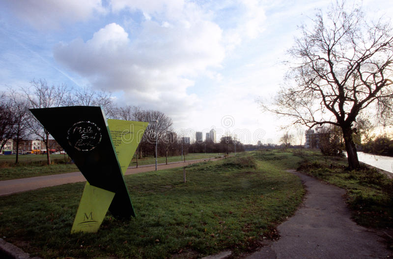 Parque da extremidade da milha, Londres foto de stock