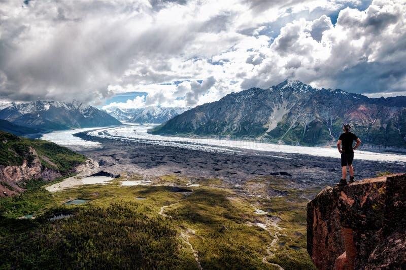 Parque da geleira de Alaska Matanuska fotografia de stock