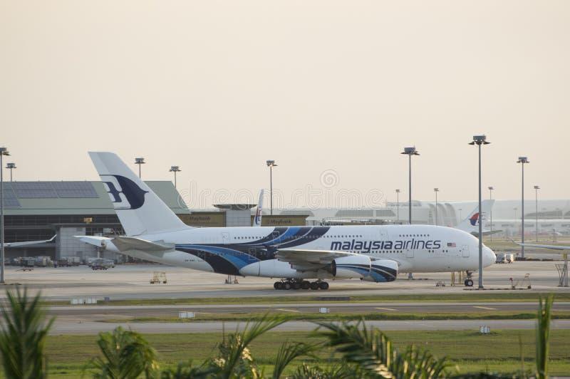 Parque da linha aérea de Malásia no terminal de KLIA fotos de stock royalty free