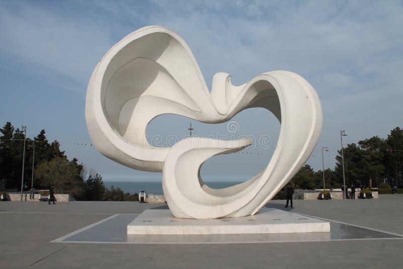 Parque da paz em Sumgayit, Azerbaijão imagens de stock royalty free