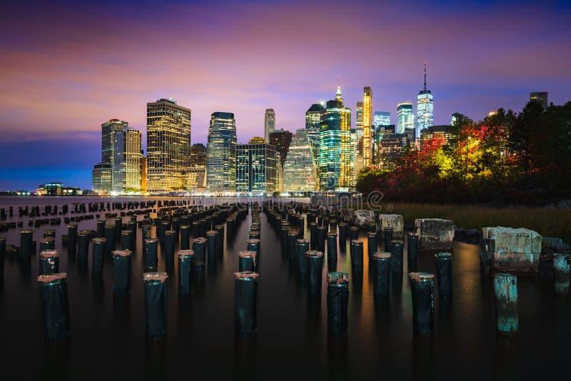 Parque da ponte de Brooklyn imagem de stock royalty free