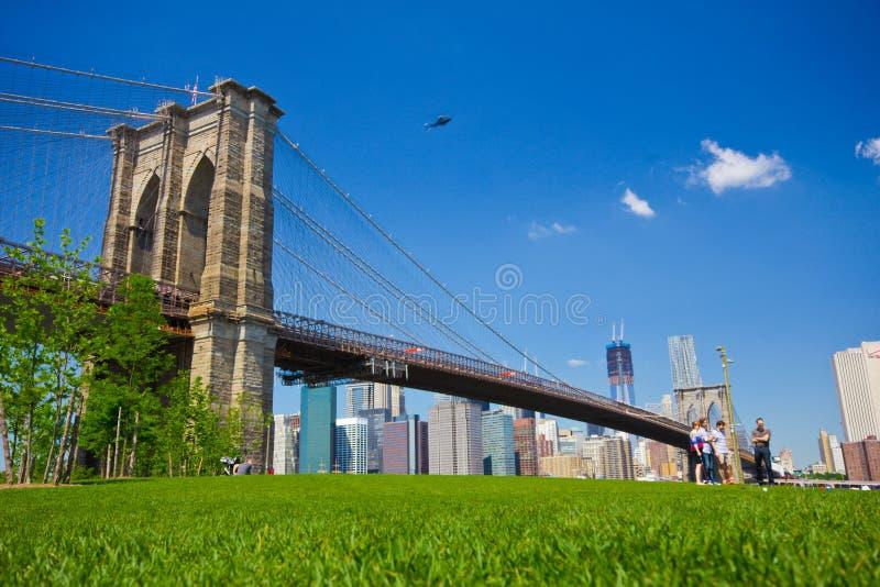 Parque da ponte de Brooklyn imagens de stock