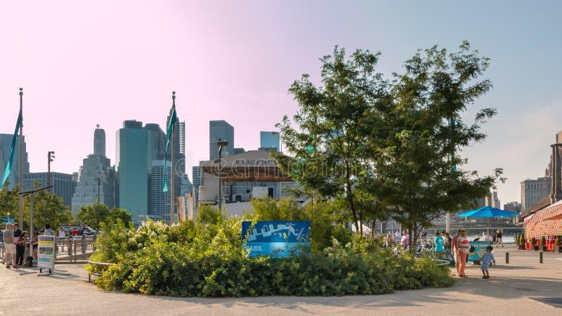 Parque da ponte de Brooklyn fotografia de stock
