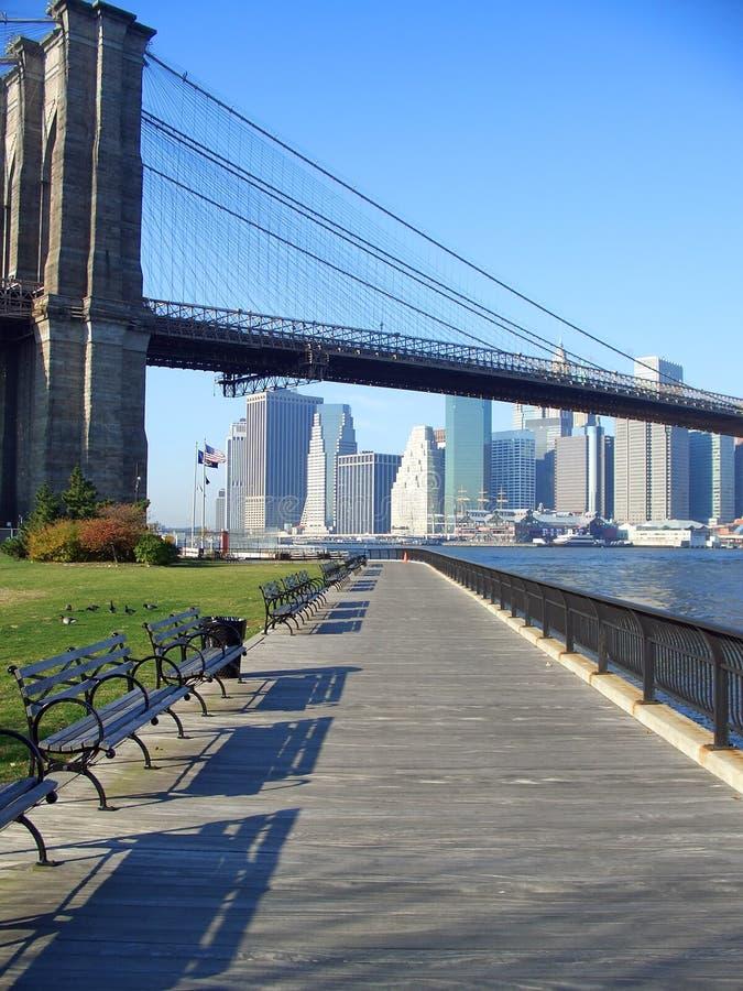 Parque da ponte de Brooklyn, New York imagens de stock