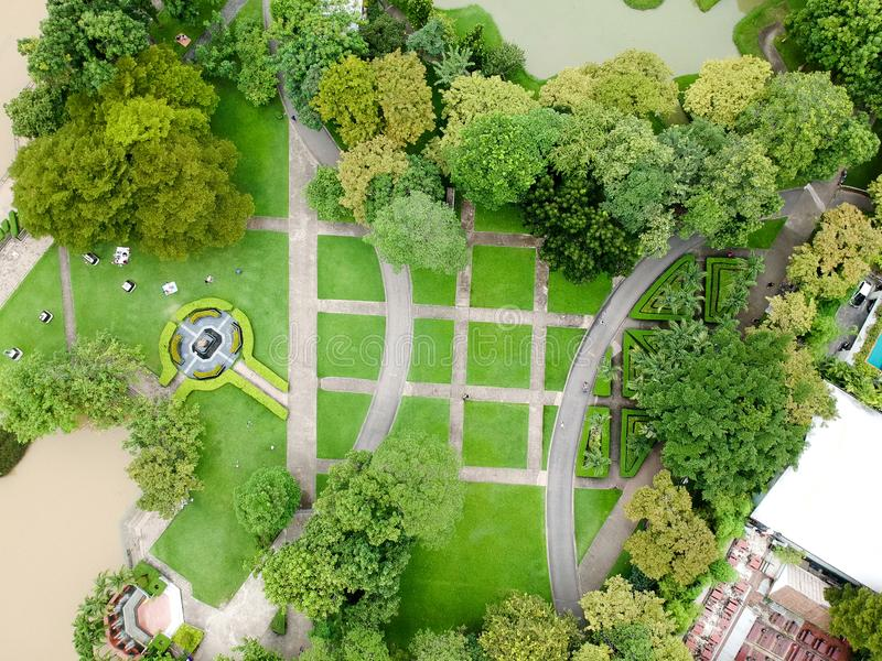 Parque da vista aérea em Tailândia imagens de stock royalty free