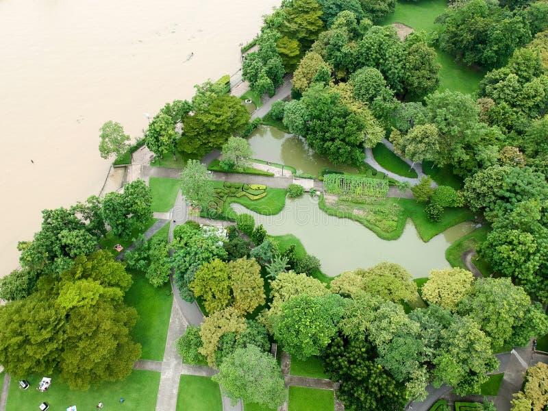Parque da vista aérea em Tailândia fotografia de stock royalty free