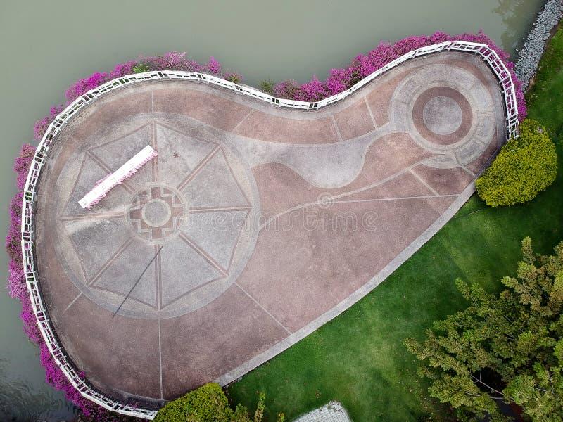 Parque da vista aérea em Tailândia foto de stock royalty free