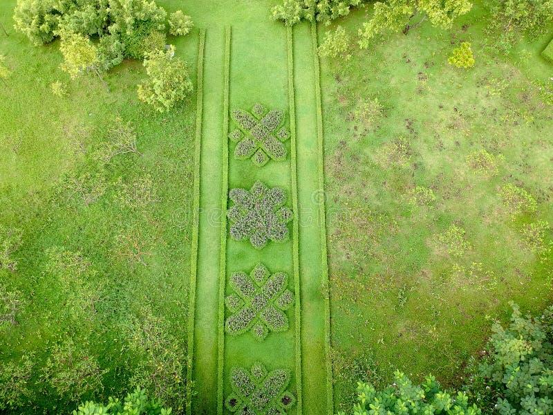Parque da vista aérea em Tailândia fotografia de stock