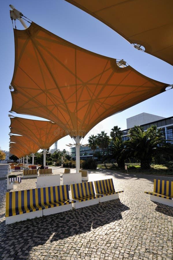 Parque das Nações, Lissabon royalty-vrije stock fotografie