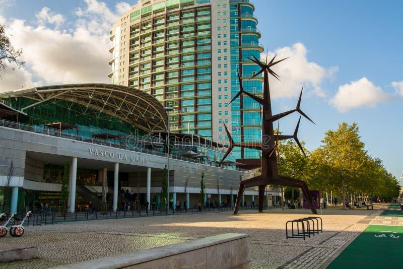 Parque das Nacoes在里斯本 免版税图库摄影