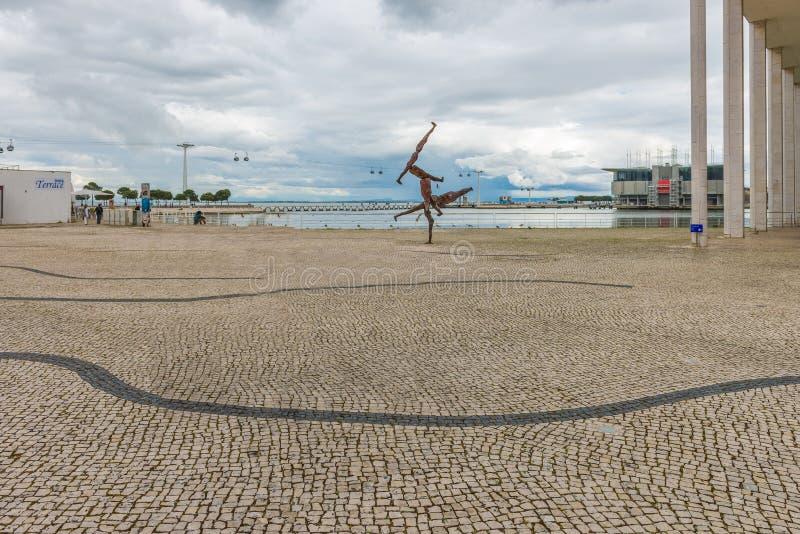 Parque das Nacoes ( Parkera av Nations) i Lissabon royaltyfria bilder