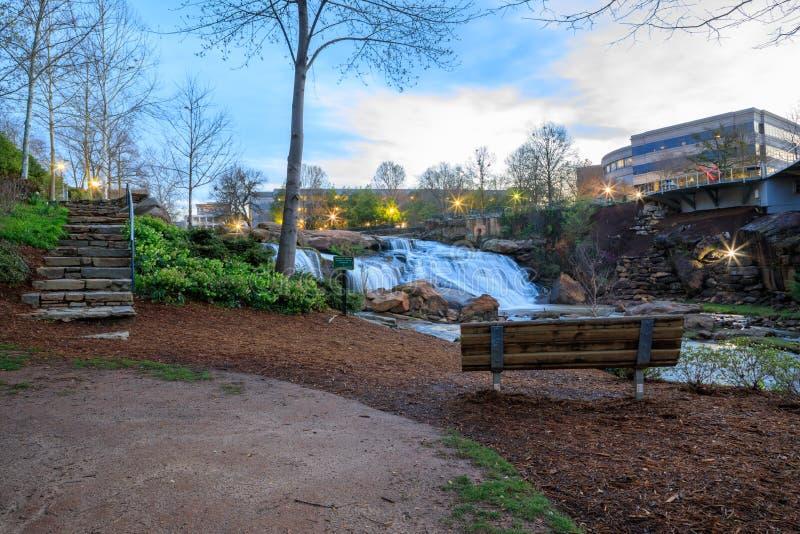 Parque das quedas em Reedy Greenville South Carolina foto de stock royalty free