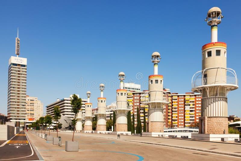 Parque de Ла Espana Промышленн в Барселоне стоковое фото
