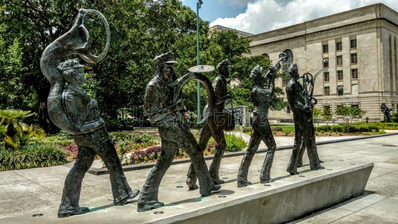 Parque de Armstrong em Nova Orleães foto de stock