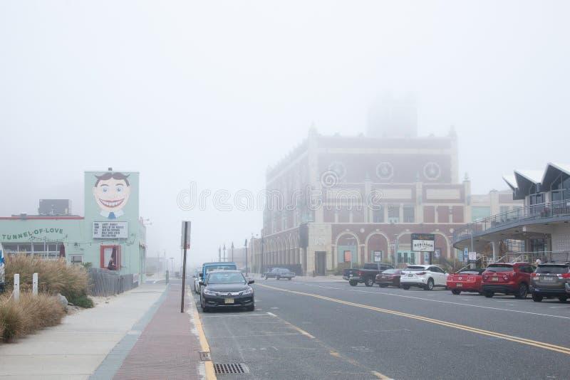 Parque de Asbury en día de niebla imagen de archivo
