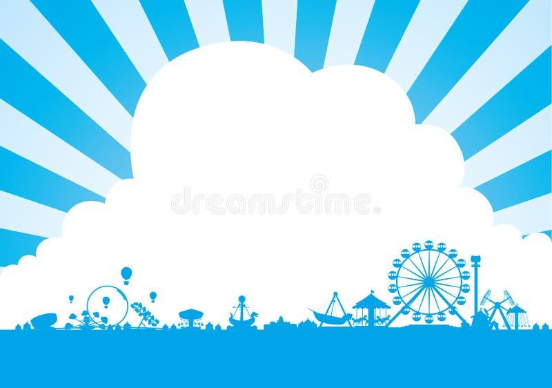 Parque de atracciones libre illustration