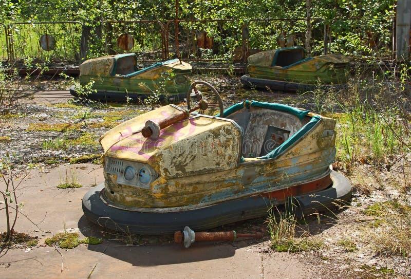 Parque de atracciones abandonado en Pripyat imagen de archivo libre de regalías