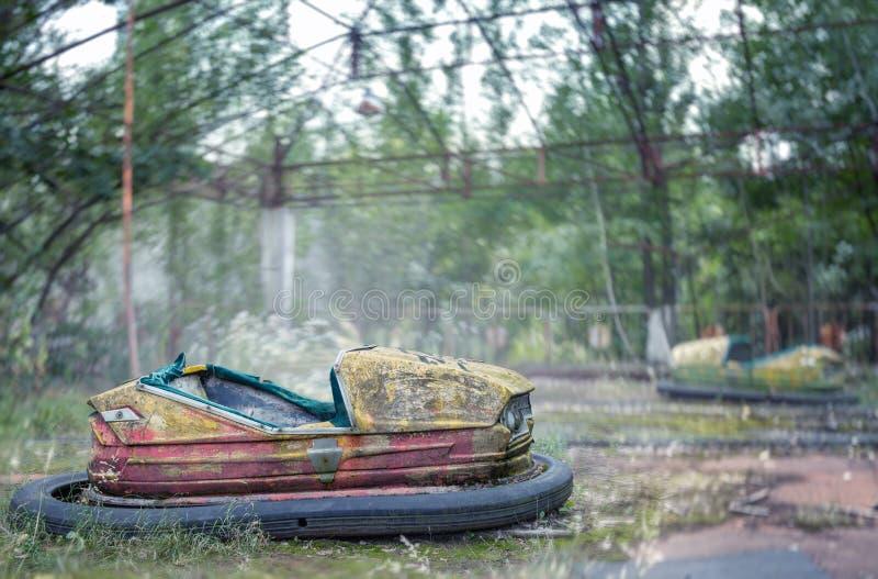 Parque de atracciones abandonado en Pripyat fotos de archivo libres de regalías