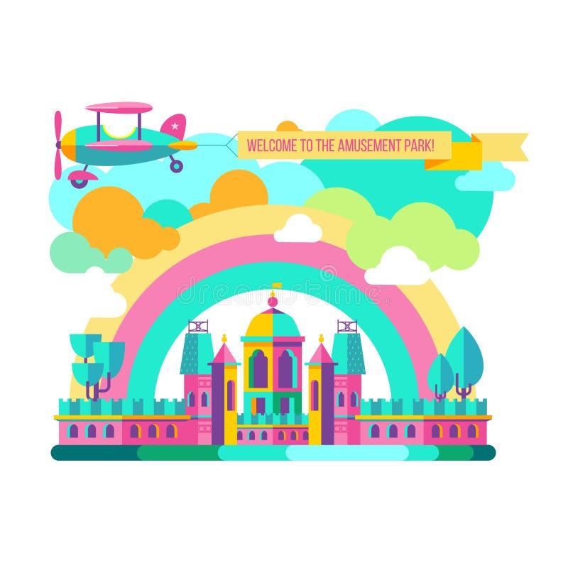Parque de atracciones clipart del vector libre illustration