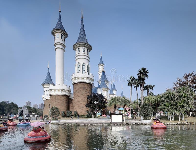 Parque de atracciones del agua imagenes de archivo