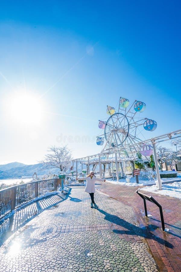 Parque de atracciones del punto de vista de Amanohashidate imágenes de archivo libres de regalías