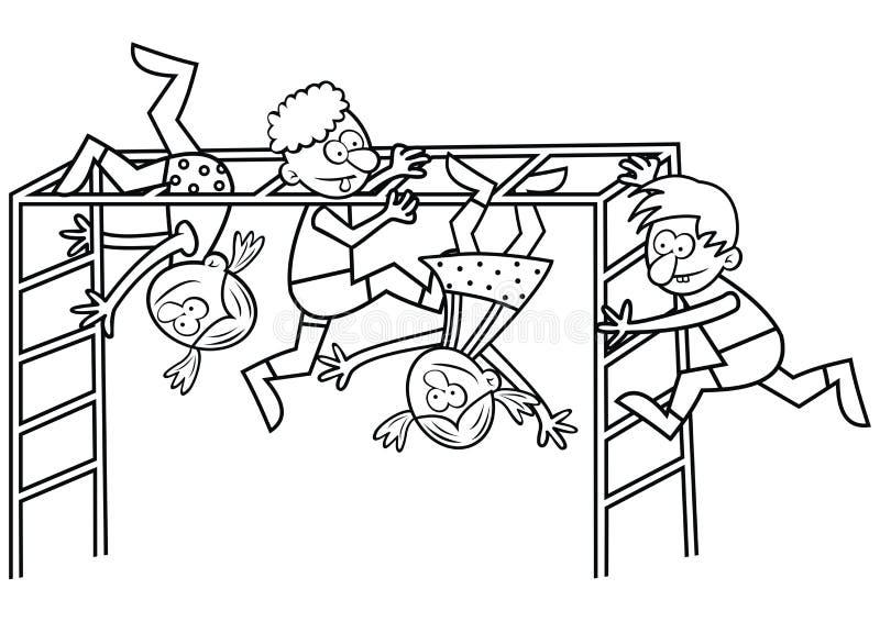Parque de atracciones del ` s de los niños ilustración del vector