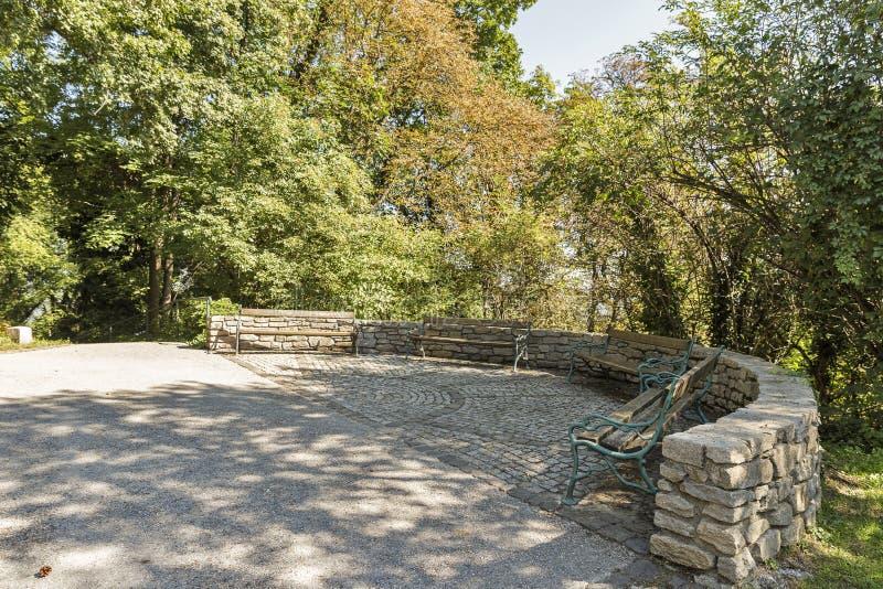 Parque de Autumn Schlossberg en Graz, Austria foto de archivo libre de regalías