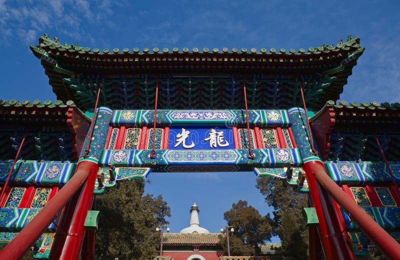 Parque de Beihai em Beijing fotografia de stock royalty free