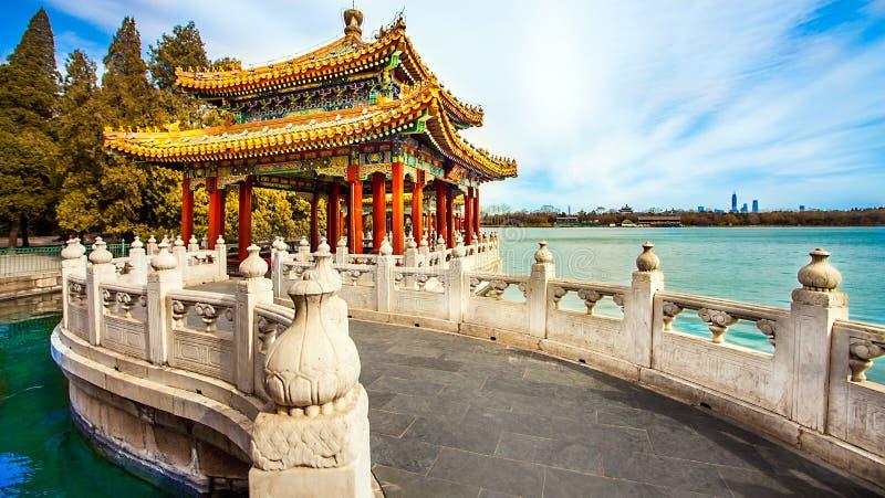 Parque de Beihai en Pekín China foto de archivo libre de regalías
