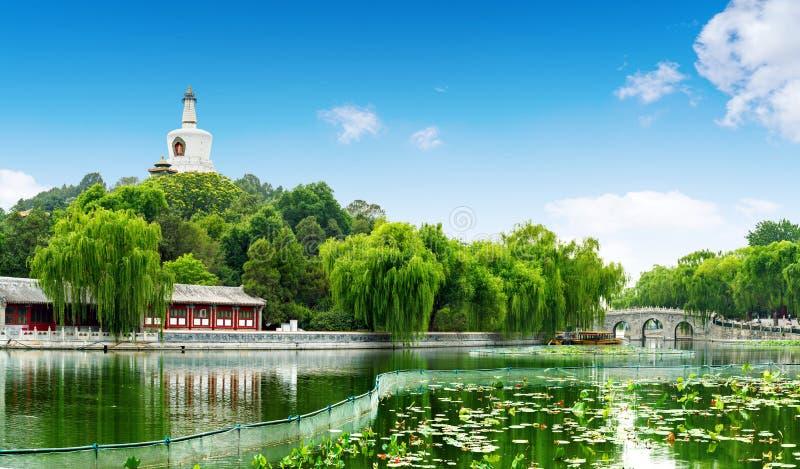 Parque de Beijing Beihai imagens de stock