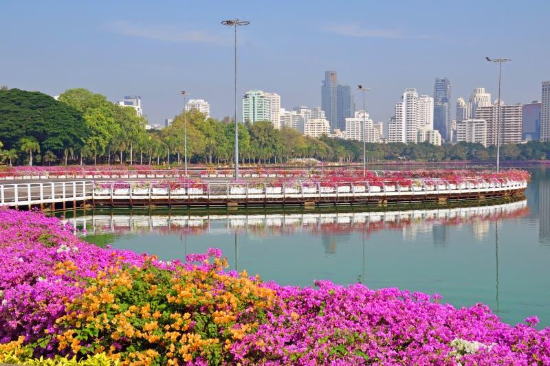 Parque de Benjakitti en Bangkok imagenes de archivo