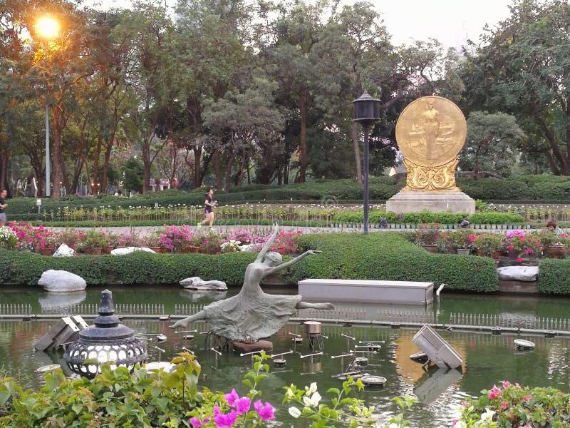 Parque de Benjasiri, Bangkok Tailandia fotos de archivo