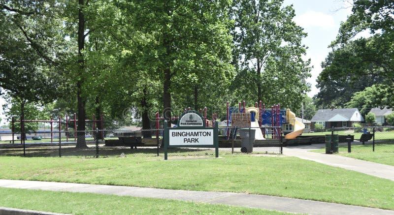 Parque de Binghamton, Memphis, TN fotos de archivo libres de regalías
