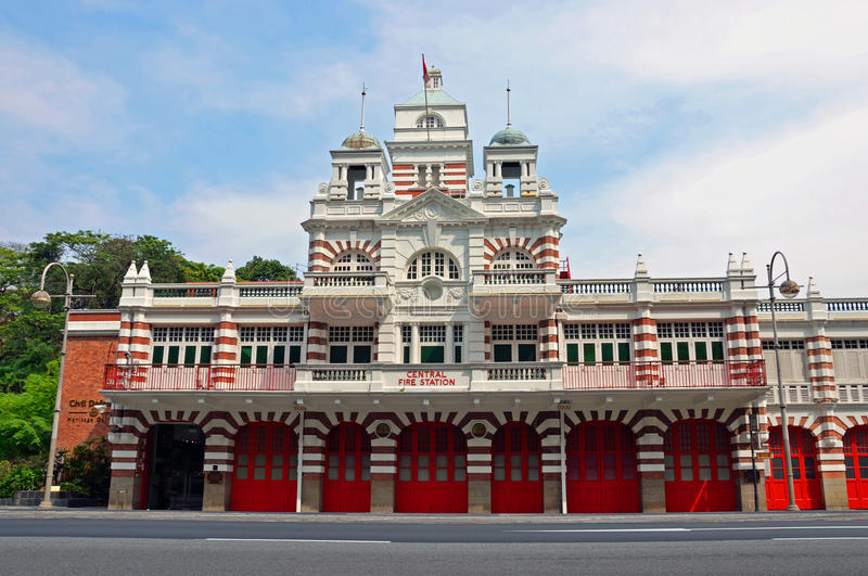 Parque de bomberos central fotografía de archivo