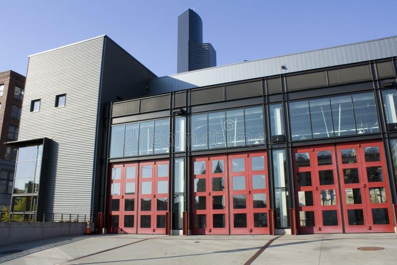 Parque de bomberos moderno fotos de archivo libres de regalías