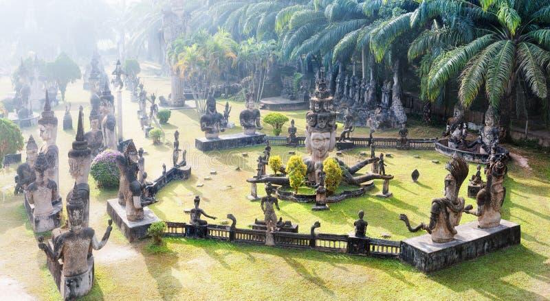 Parque de Buda Atracción turística y parque público en Vientián Laos fotos de archivo