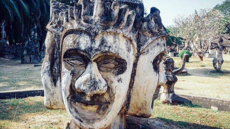 Parque de Buda en la capital de Laos - Vientián imagenes de archivo