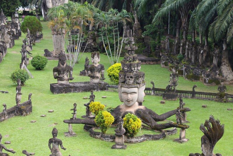 Parque de Buda en Laos fotografía de archivo libre de regalías