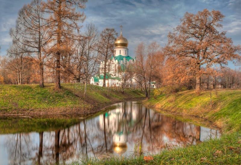 Parque de Catherine em Tsarskoye Selo fotos de stock