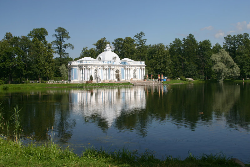 Parque de Catherine en el SE de Tsarskoye fotografía de archivo libre de regalías