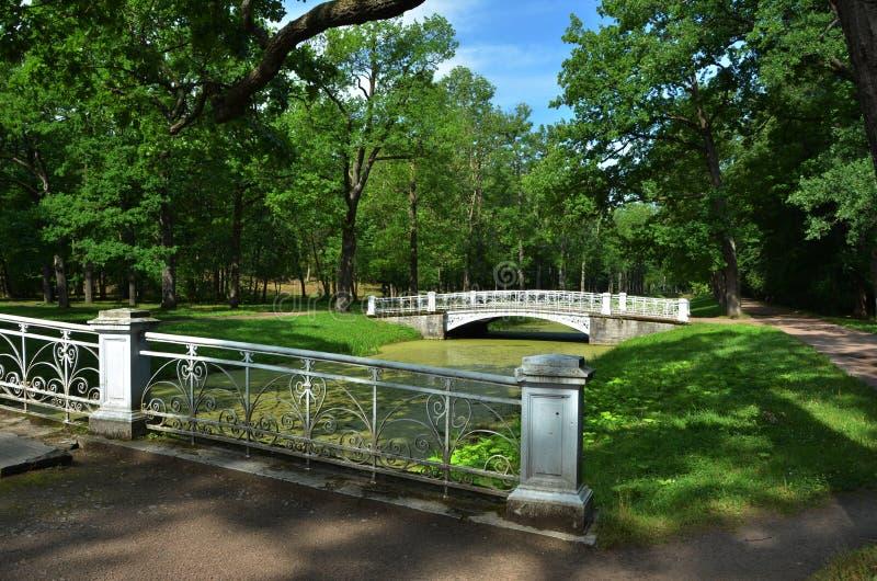 Parque de Catherine en Tsarskoye Selo fotos de archivo libres de regalías