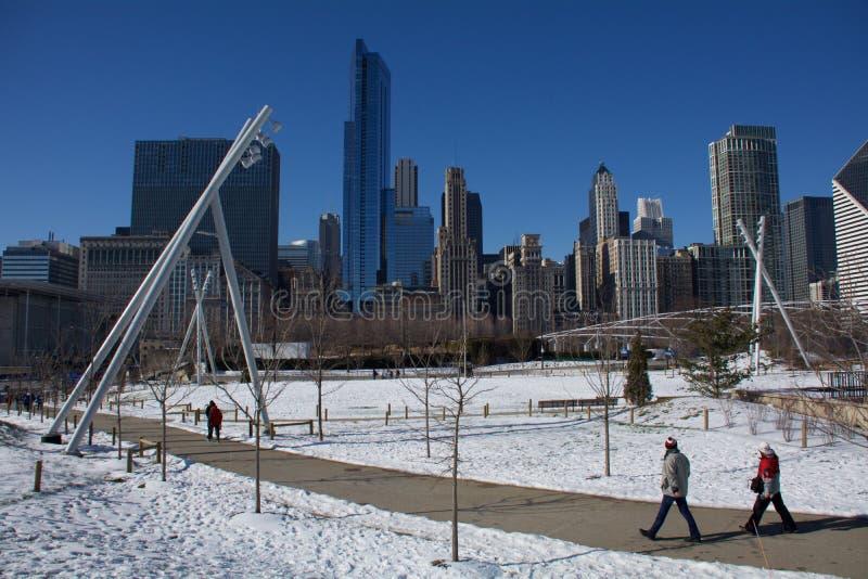 Parque de Chicago imagens de stock