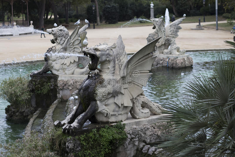 Parque de Ciutadella imagem de stock