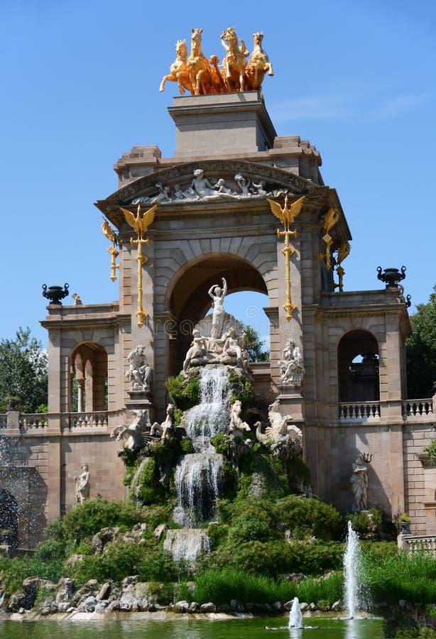 Parque de Ciutadella em Barcelona imagem de stock